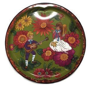 VTG Daher Decorated Ware Boy Girl Tin Tray